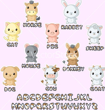 Free farm animals hawaii set vector - Free vector #267967