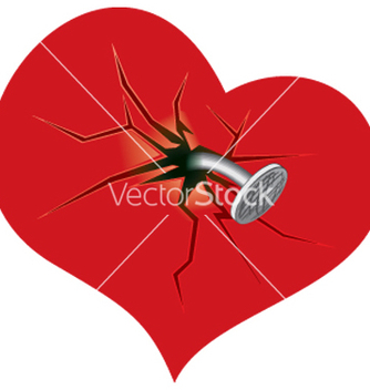 Free damaged heart vector - Free vector #268007