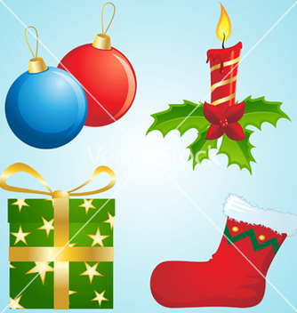 Free christmas decorations vector - бесплатный vector #268017