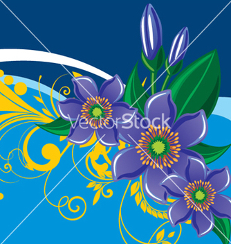 Free floral background vector - Free vector #268217