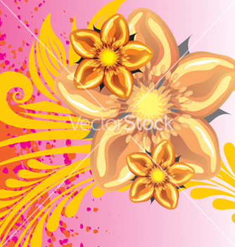 Free floral background vector - Free vector #268237