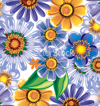 Free floral background vector - Free vector #268287