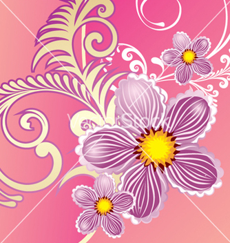 Free floral background vector - Free vector #268327