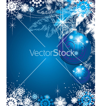 Free snowflakes background vector - vector #268337 gratis