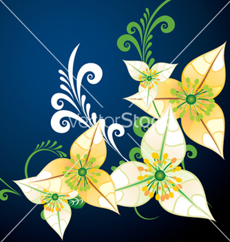 Free floral background vector - Free vector #268367
