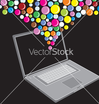 Free bubble laptop vector - vector gratuit #268547