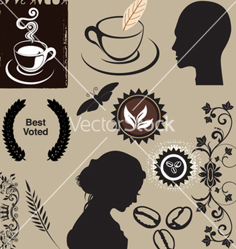 Free coffee elements vector - Free vector #268607