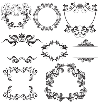 Free floral elements vector - Free vector #268647