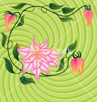 Free flower background vector - Kostenloses vector #268927