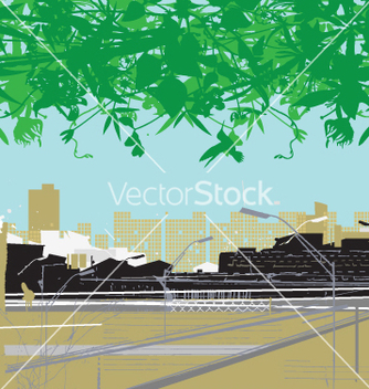 Free city and nature vector - Free vector #269307