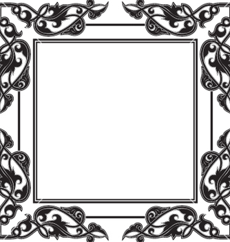 Free vintage frame vector - Free vector #269377