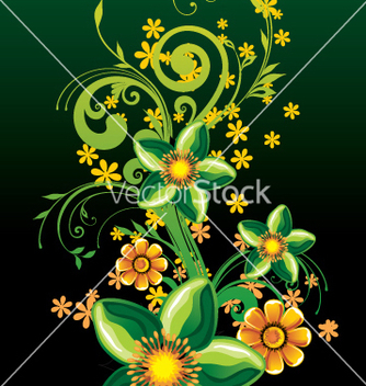 Free floral background vector - Free vector #269607