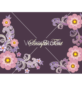 Free floral border vector - Free vector #269747
