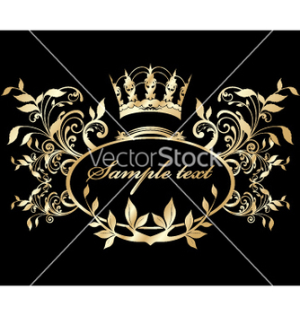 Free gold nature frame vector - Free vector #269757