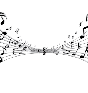 Free musical notes vector - vector gratuit #269837