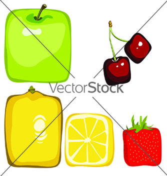 Free square fruit vector - бесплатный vector #269877