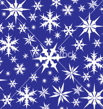 Free white snowflakes on blue vector - vector gratuit #270187