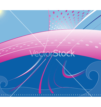 Free water and sky vector - Free vector #270197