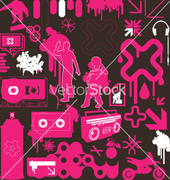 Free graphic funk neon vector - бесплатный vector #270207