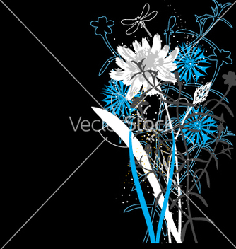 Free wild flowers vector - Free vector #270267