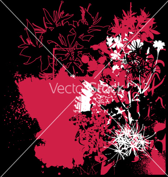 Free grunge flower graphic vector - Free vector #270367