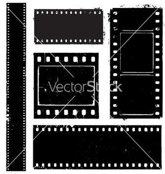 Free film strip grunge vector - Free vector #270437