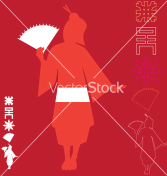Free asian graphic elements vector - Free vector #270447