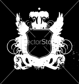 Free heraldry shield version 02 grunge vector - бесплатный vector #270537