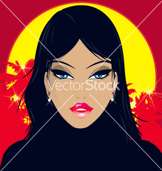 Free tropical babe vector - бесплатный vector #270557