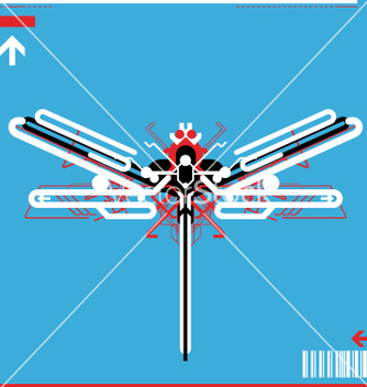 Free high tech robot dragonfly vector - Free vector #270577