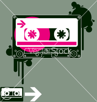 Free audio tape old school vector - бесплатный vector #270617