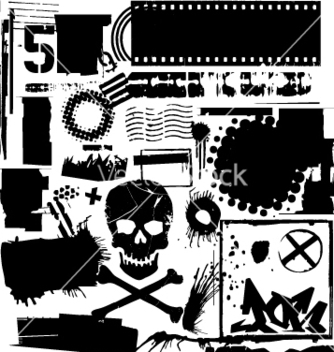 Free grunge elements vector - Free vector #270647