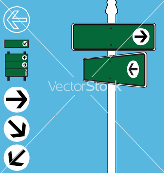 Free street sign elements vector - бесплатный vector #270677