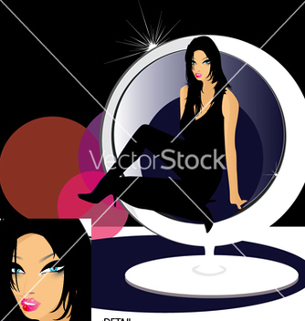 Free miss candi in egg chair vector - Kostenloses vector #270757