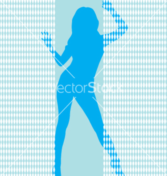 Free girl behing bead curtail vector - Free vector #270767