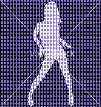 Free dancer behind bead curtain vector - vector gratuit #270777