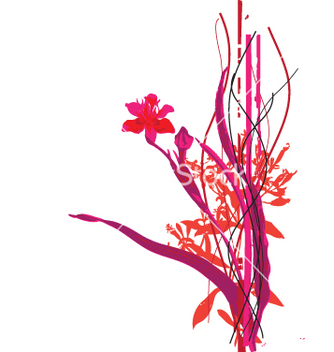 Free wild flowers vector - Free vector #270967