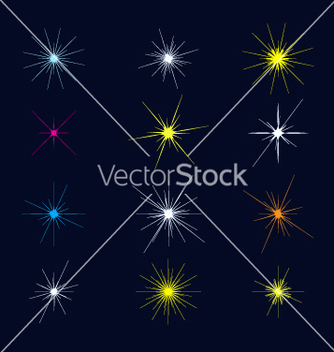Free sparkles and starbursts vector - Free vector #271047
