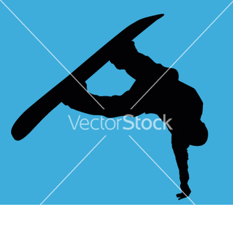 Free snowboarder big air vector - бесплатный vector #271057
