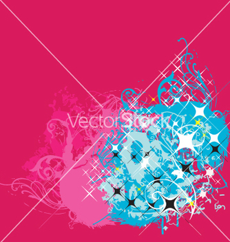 Free graphic background with stars vector - Free vector #271177