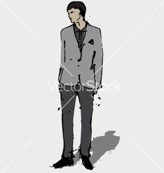 Free man in suit vector - бесплатный vector #271237