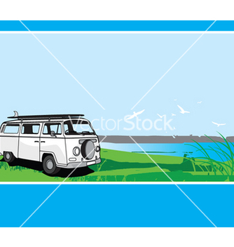 Free campervan tour vector - бесплатный vector #271557