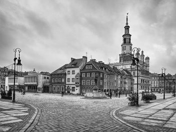 City of Poznan, Poland, black and white - Kostenloses image #271607