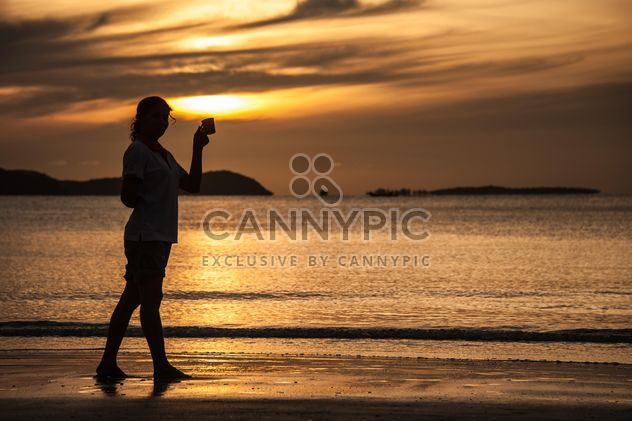 Silhouette at sunset - Free image #271827