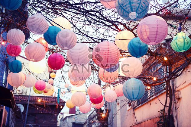colorful lanterns in cafe in Istanbul - Free image #272337