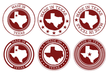 Made In Texas Vectors - vector gratuit #272357