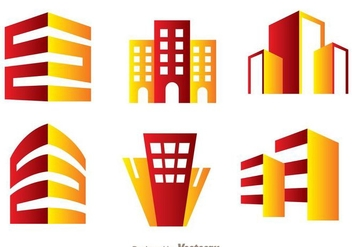 Red And Orange Hotels Logo Vector - Free vector #272387