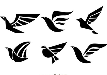 Bird Black Logo Vectors - vector #272407 gratis