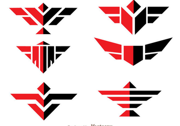 Symmetric Hawk Logo Vector - бесплатный vector #272417