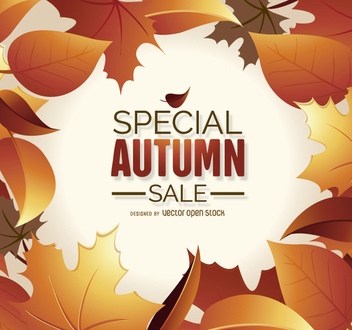 Autumn Sale Graphic - Kostenloses vector #272487